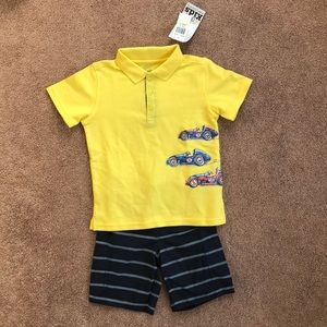 Kids Headquarters Race Car Outfit - NWT